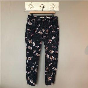 Vintage America | Black & Floral Boho Skinny Jeans